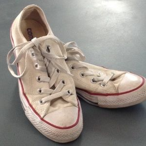 CONVERSE All-Star white low tops